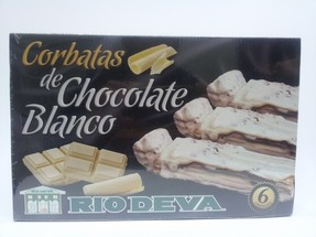 Corbatas con Chocolate Blanco